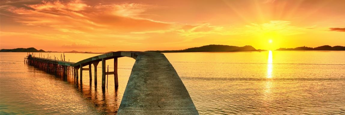 Sonnenuntergang Steg Konvex7