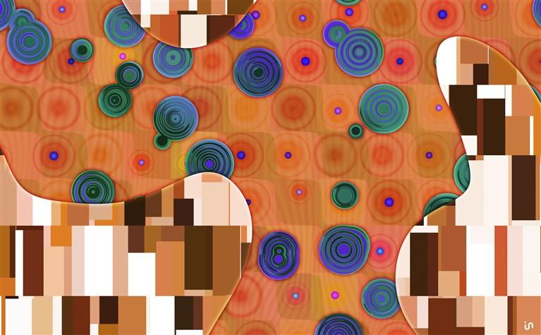 Abstract Klimt Konvex6