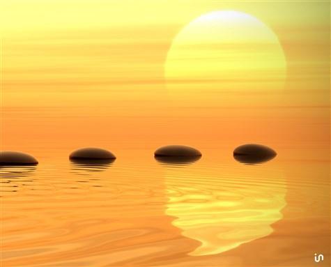 Sonnenuntergang Stones Konvex3