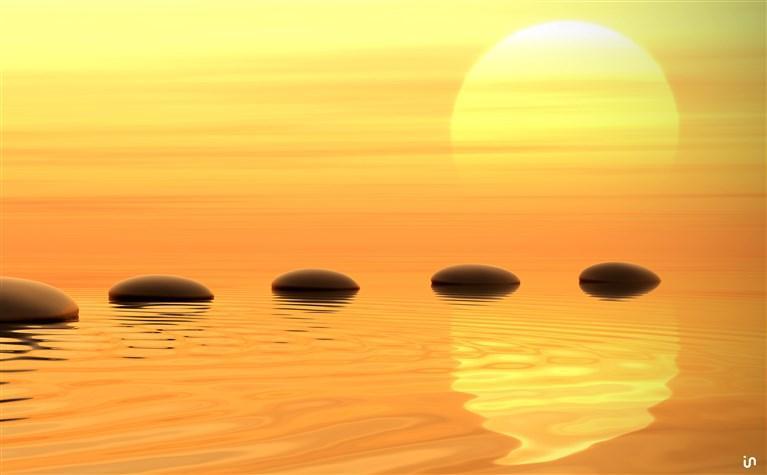 Sonnenuntergang Stones Konvex6
