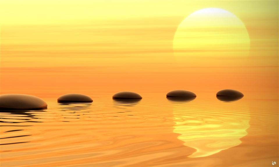 Sonnenuntergang Stones Konvex9