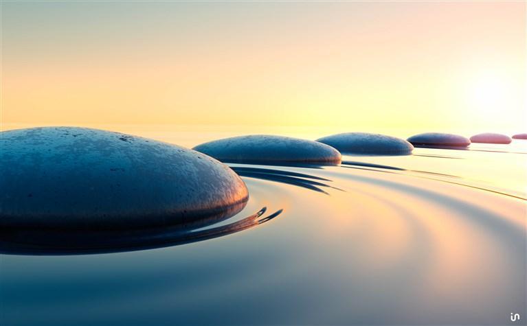 Steine im Wasser Konvex6