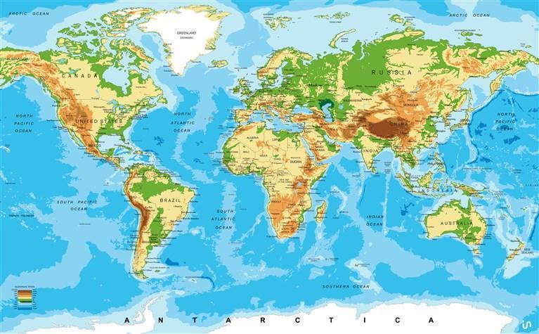 Weltkarte Konvex6